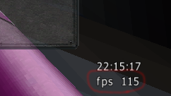 Frames per second indicator